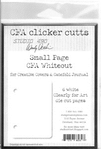 Wendy Vecchi Clicker Cutts SMALL PAGE WHITEOUT Clearly for Art Studio 490 *