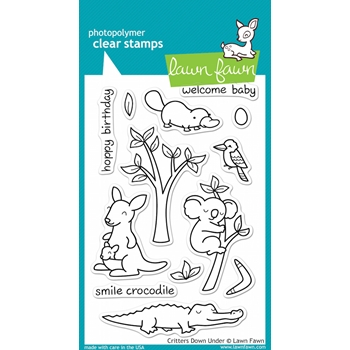 Lawn Fawn CRITTERS DOWN UNDER Clear Stamps