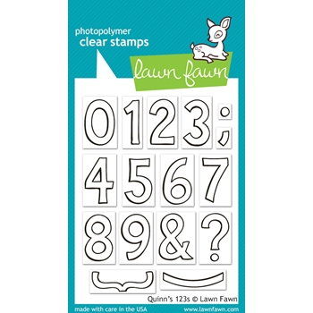 Lawn Fawn QUINN'S 123's Clear Stamps