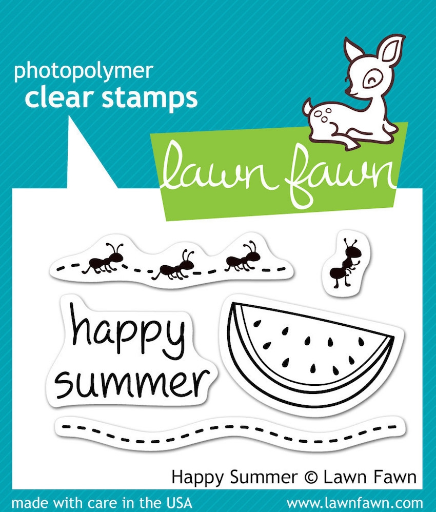 Lawn Fawn HAPPY SUMMER Clear Stamps LF396 zoom image