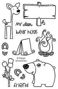 Paper Smooches HAPPY CAMPER Clear Stamps Kim Hughes zoom image