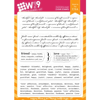 Wplus9 DEFINING WORDS Clear Stamps 46068