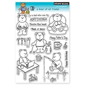 Penny Black Clear Stamps A BEAR OF ALL TRADES 30-108
