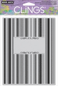 Hero Arts Cling Stamp STRIPED NOTE Rubber Unmounted CG458